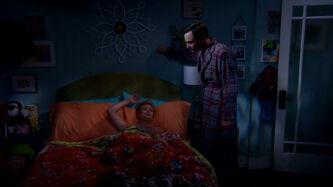 S6EP02 - Sheldon in Penny's bedroom