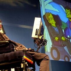 Stephen Hawking presents his appearance on <i>The Simpsons</i>