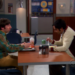 Raj and Howard at the cafeteria.