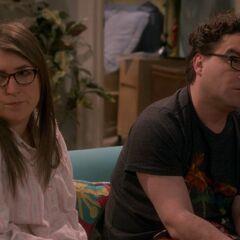 Amy consoling Leonard.