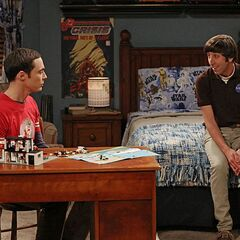 Howard trying to help Sheldon.