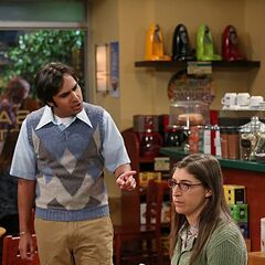 Raj confronting Amy.