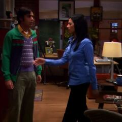 Raj forbids Leonard dating Priya, with a Catwoman bust in-view.