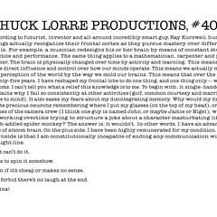 Chuck Lorre Productions, #406.