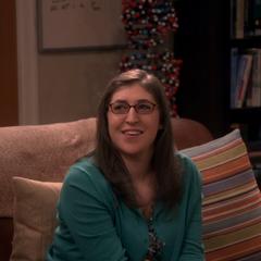 Amy watching the drama.