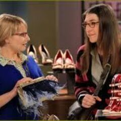 Amy going shoe-shopping with the girls.