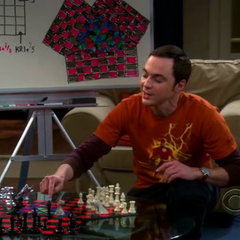 Sheldon is playing three person chess.