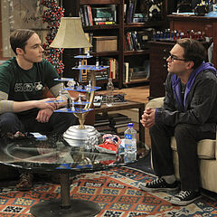 Sheldon and Leonard talking about their girlfriends.