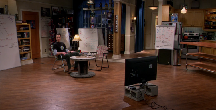 Image result for big bang theory empty apartment