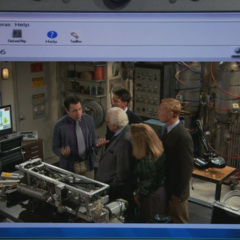 Sheldon's webcam view just before he dumped it all on Kripke.