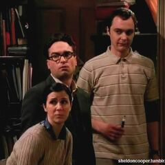 Sheldon, Leonard and Gilda.