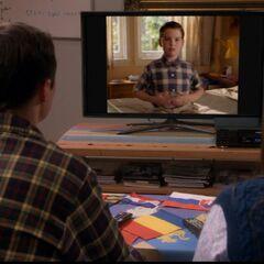 Watching young Sheldon.