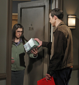 S6EP07 - Sheldon giving Amy a box