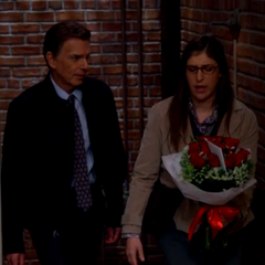 Amy gets the flowers.