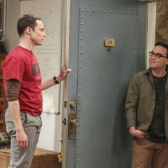 Leonard apologizing to Sheldon for lying to him.