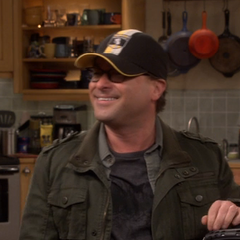 Leonard's Harry Potter Hufflepuff hat.