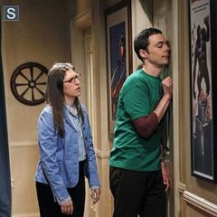 Amy and drunken Sheldon.