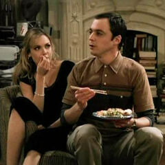 Sharing Sheldon's Chinese food.