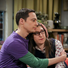 Sheldon holding Amy.