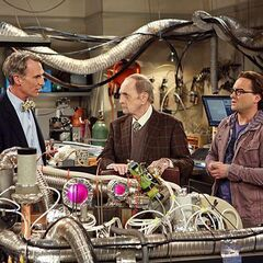 Professor Proton and Bill Nye in Leonard's Lab.