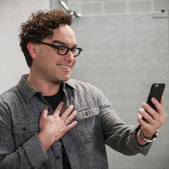Leonard on the phone.