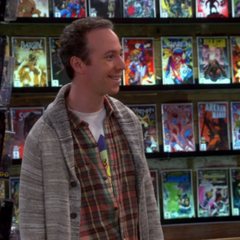 Stuart in his new comic book store.