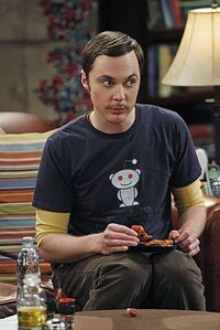 Sheldon with mustache