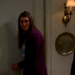 Amy going to get Sheldon's beer after he swats her and she liked it.