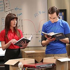 Reviewing Sheldon's childhood notebooks.