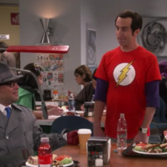 Howard as Sheldon.