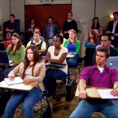 Pan to audience after Sheldon told them they would never amount to anything in the field of Physics.