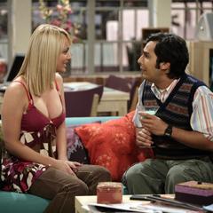 Penny speaks to Raj as he's drinking a Grasshopper.