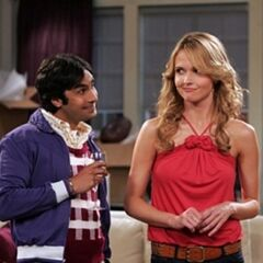 Raj and Alicia in her apartment.