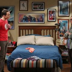 Leonard mad at Sheldon.