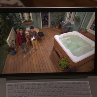 Drone watching Raj and Howard.