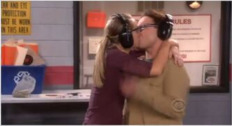 The Beta Test Initiation Penny and Leonard kiss