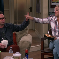 High five! Too busy to go with Sheldon.