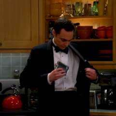 Sheldon is planning to spike the punch.