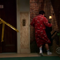 Sheldon and Leonard running away from Jimmy.