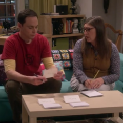 Reading Sheldon's note that complains.
