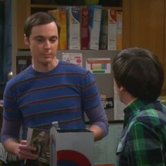 Sheldon tells that he still has a Mexican Peso up his nose, a result from a prank on him as a child.
