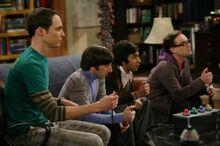 Leonard auf Sheldons Platz