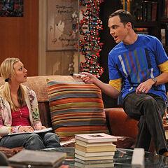 Sheldon teaching Penny