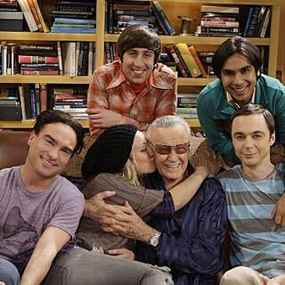 The cast with their guest star.