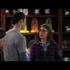 Amy and Sheldon's first meeting.