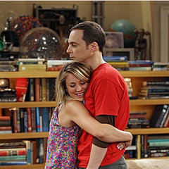 Sheldon needed a hug.