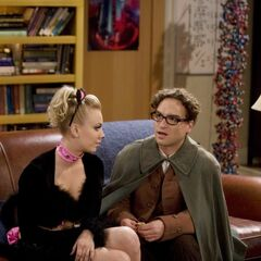 Penny and Leonard at Halloween.