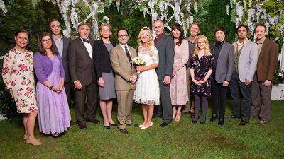 Everyone at Leonard and Penny Wedding