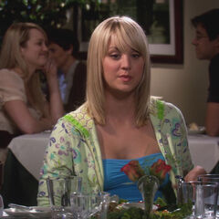 Penny at dinner with Leonard.
