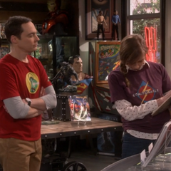 Sheldon challenges Denise.